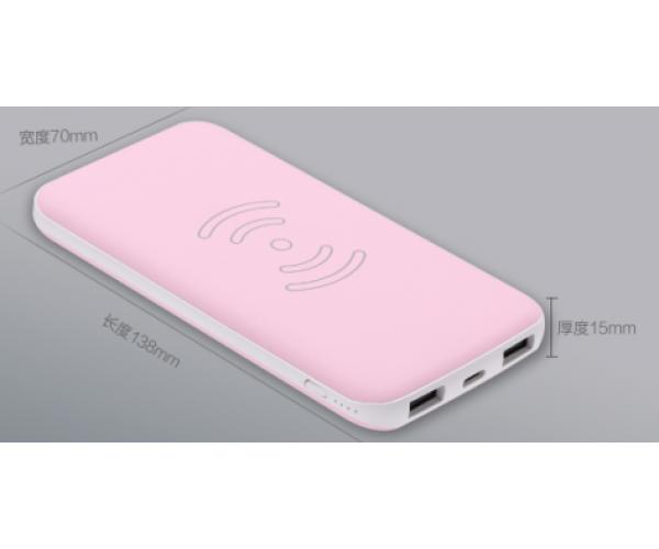 Wireless battery power Bank 5W 8000 mAh