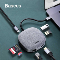 Baseus Fabric Series 7 in 1 Type-C Multifunctional HUB Adapter