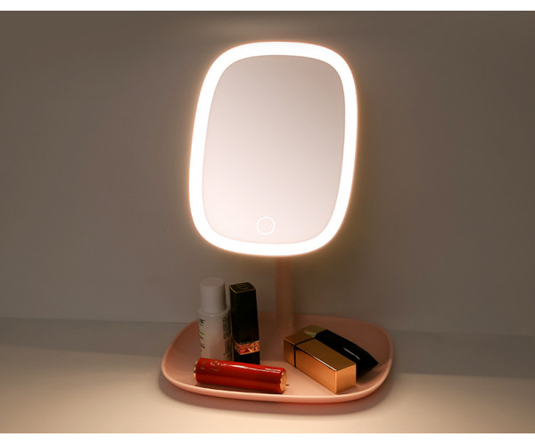 LED makeup mirror with table lamp