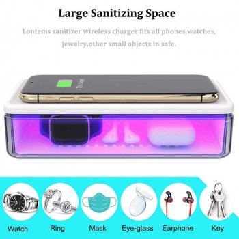Wireless charger with sterilizer from germs and viruses