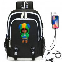 Brawls Leon, Kids Bag, Backpack, Usb Charging, Student School Bag, 3D Print